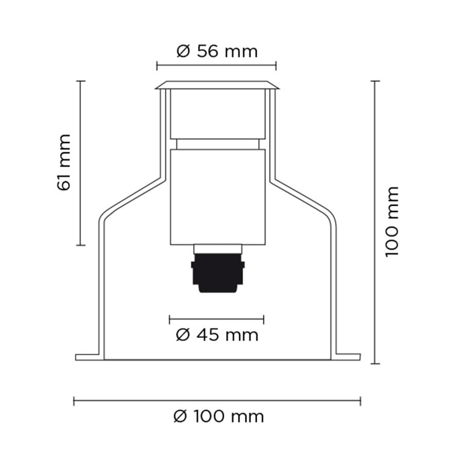 Вбудований світильник HYDROFLOOR SMALL 3W
