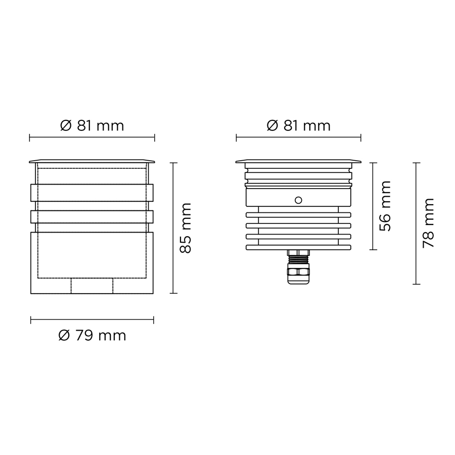 Вбудований світильник HYDROFLOOR NANO 5W