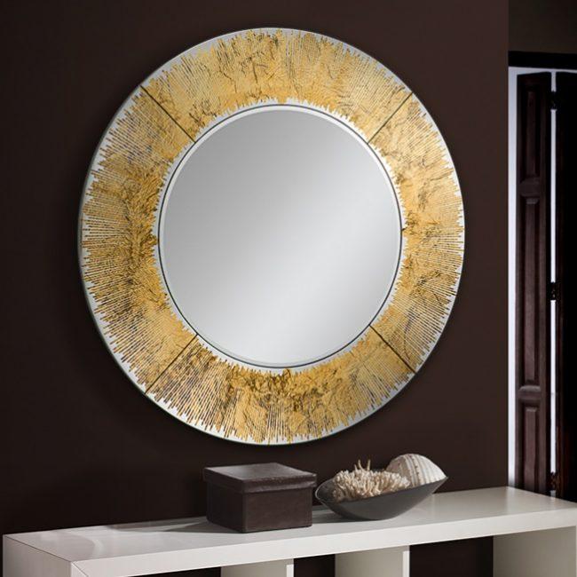 Дзеркало кругле Schuller Aurora золото