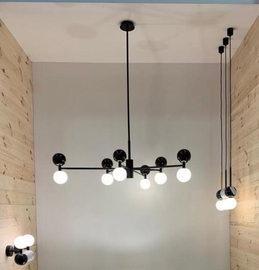 Стельовий світильник Aromas del Campo Dalt (чорний)