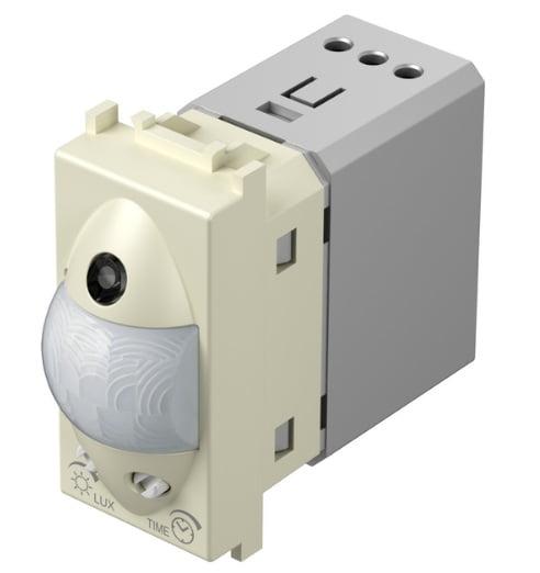 Інфрачервоний вимикач (датчик руху) 5А, 230В, 1 модуль, колір слонова кістка EM31IW