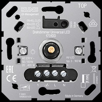 Світлорегулятор поворотно-нажимний універсальний