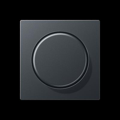 Кришка для поворотно-нажимного світлорегулятора Матовий Антрацит