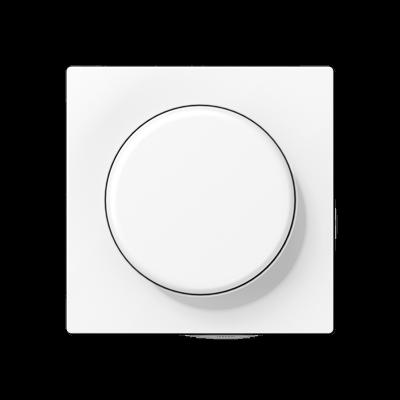 Кришка для поворотно-нажимного світлорегулятора Матовий Білий