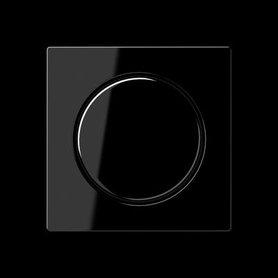 Кришка для поворотно-нажимного світлорегулятора Чорна