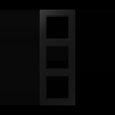 Рамка A550 3-на Чорний матовий