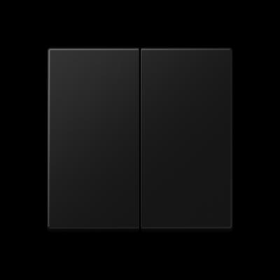 Клавіші для двоклавішного вимикача Чорний матовий