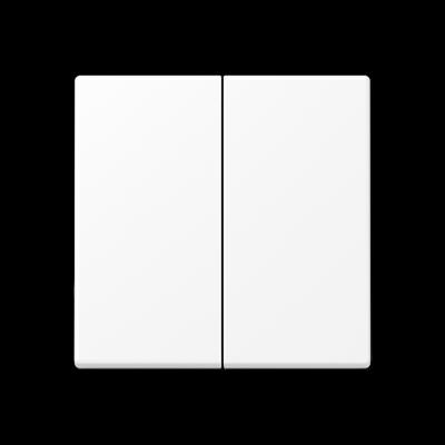 Клавіші для двоклавішного вимикача Білий матовий