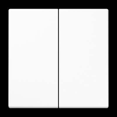 Клавіші для двоклавішного вимикача Білі