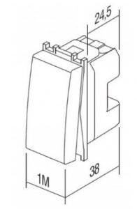 Вимикач кнопковий для жалюзі 1-0-2 16А 250В 1 модуль колір слонова кістка SM41IWNT10