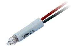 Неонова лампа для підсвітки помаранчевого кольору 230В 0,34Вт IA10OR