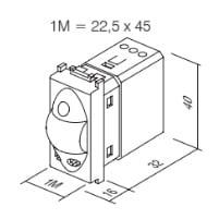 Інфрачервоний вимикач (датчик руху) 5А, 230В, 1 модуль, колір антрацит EM31AT