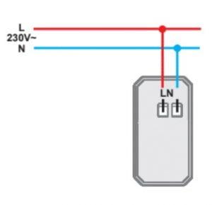Зарядний пристрій USB 1 модуль 5В, 2,1А колір антрацит EM66AT