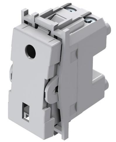 Вимикач кнопковий однополюсний 16А 250В 1 модуль SM11
