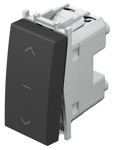 Вимикач для жалюзі 1-0-2 16А 250В 1 модуль колір антрацит SM40ATNT10