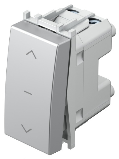 Вимикач для жалюзі 1-0-2 16А 250В 1 модуль колір срібний металік SM40ESNT10