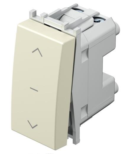 Вимикач для жалюзі 1-0-2 16А 250В 1 модуль колір слонова кістка SM40IWNT10