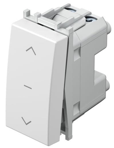 Вимикач для жалюзі 1-0-2 16А 250В 1 модуль колір сніжно-білий SM40PWNT10