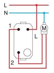 Вимикач для жалюзі 1-0-2 16А 250В 1 модуль колір чорний матовий SM40SBNT10