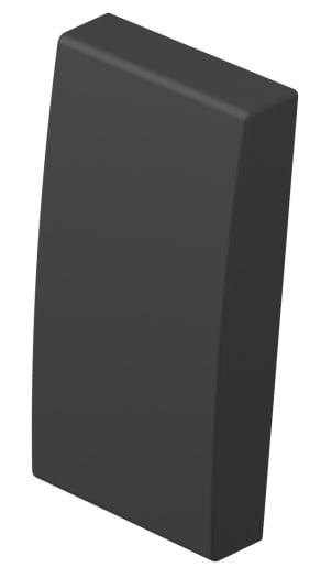 Клавіша на однополюсний вимикач 1 модуль колір антрацит TM11AT