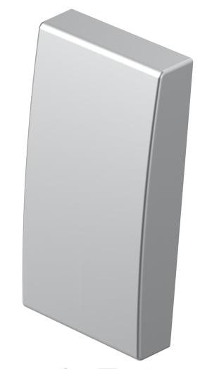 Клавіша на однополюсний вимикач 1 модуль колір срібний металік TM11ES