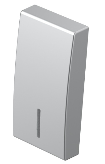 Клавіша на однополюсний вимикач з індикацією 1 модуль колір срібний металік TM11ESIN