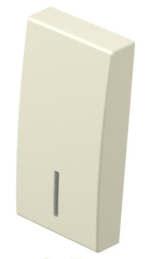 Клавіша на однополюсний вимикач з індикацією 1 модуль колір слонова кістка TM11IWIN