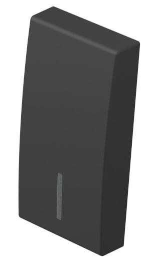 Клавіша на однополюсний вимикач з індикацією 1 модуль колір чорний матовий TM11SBIN
