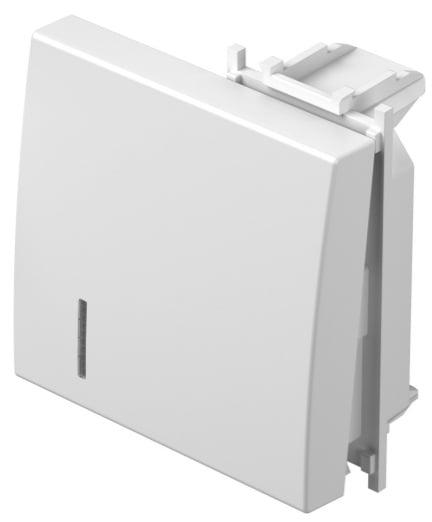 Клавіша на однополюсний вимикач з індикацією 2 модулі колір срібний металік TM12ESIN