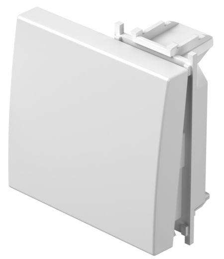 Клавіша на однополюсний вимикач 2 модулі колір сніжно-білий TM12PW