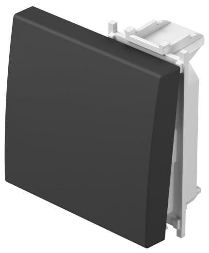 Клавіша на однополюсний вимикач 2 модулі колір чорний матовий TM12SB