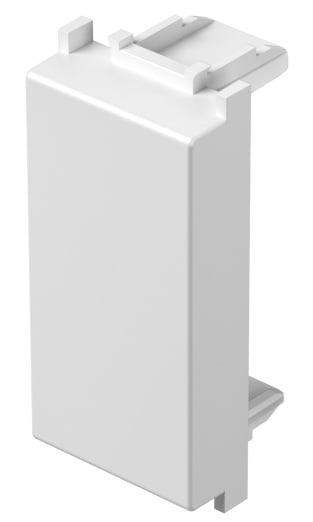 Заглушка, 1 модуль,  колір сніжно-білий TM21PW