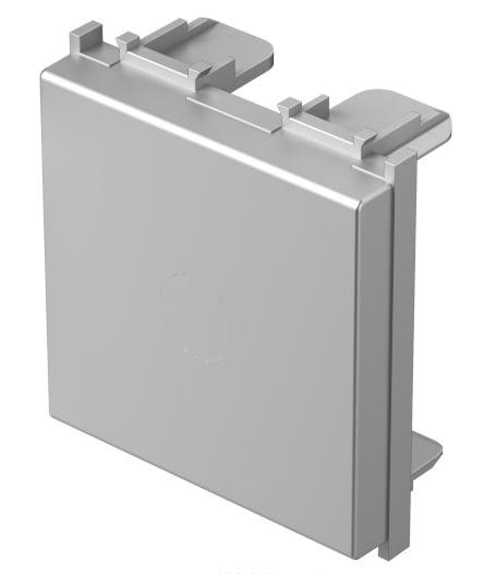 Заглушка, 2 модуля, колір срібний металік TM22ES