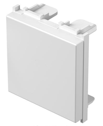 Заглушка, 2 модуля,  колір сніжно-білий TM22PW