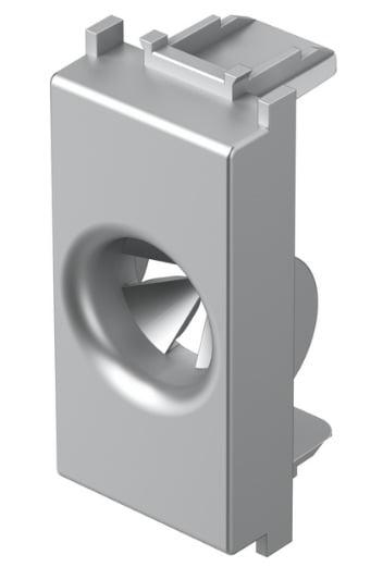Розетка для виводу кабеля, 1 модуль, колір срібний металік TM31ES