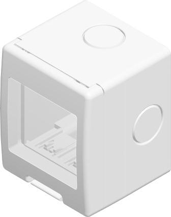 Корпус вологозахищений IP55 для накладного монтажу, серія NO CUBO, 2 модуля, колір сніжно-білий AQ20PW