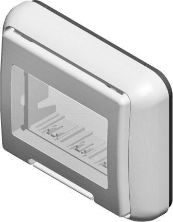 Корпус вологозахищений IP55 для вбудованого монтажу, серія NO CUBO, 2 модуля, колір сірий AQ31GY