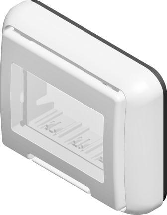 Корпус вологозахищений IP55 для вбудованого монтажу, серія NO CUBO, 3 модуля, колір сніжно-білий AQ31PW