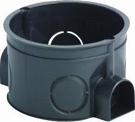 Коробка кругла для твердих стін 2 модуля DE10