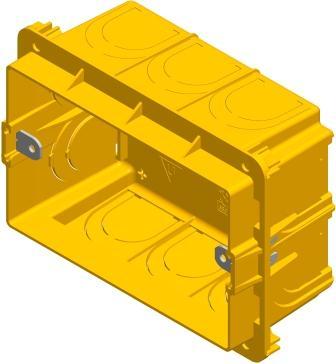 Коробка прямокутна для твердих стін 3 модуля DM30