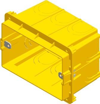 Коробка прямокутна поглиблена для твердих стін 3 модуля DM31