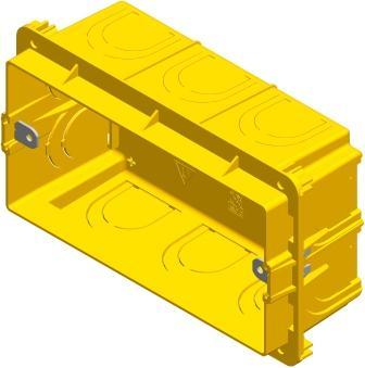 Коробка прямокутна для твердих стін 4 модуля DM40