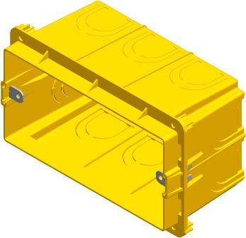 Коробка прямокутна поглиблена для твердих стін 4 модуля DM41