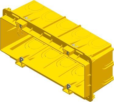Коробка прямокутна поглиблена для твердих стін 7 модулів DM71