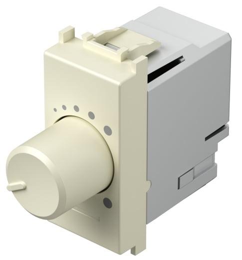 Світлорегулятор поворотний двохпозиційний LED 180Вт, 1 модуль, колір слонова кістка EM14IW