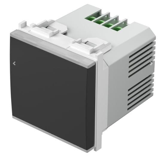 Вимикач-світлорегулятор універсальний, 2 модуля, колір чорний матовий EM25SB