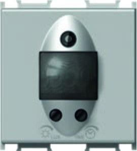 Інфрачервоний вимикач (датчик руху) 5А, 230В, 2 модуля, колір срібний металік EM32ES