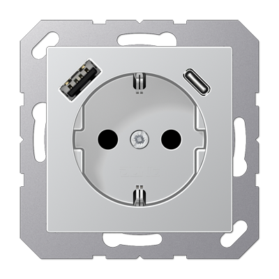 Розетка SCHUKO з USB тип AC A1520-15CAAL