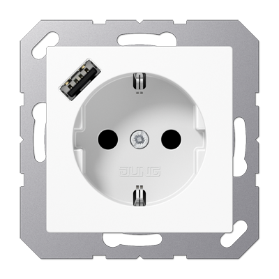 Розетка SCHUKO з USB тип A  A1520-18AWWM