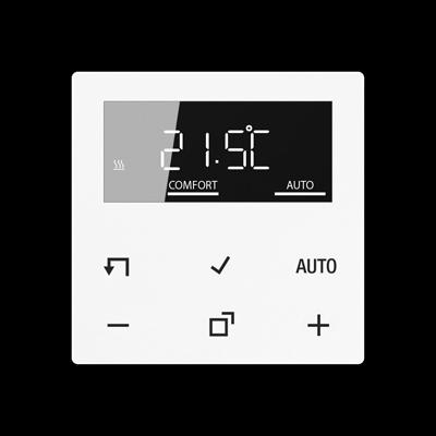 Дисплей для електронного кімнатного термостату Серія А Білий